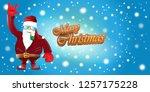 vector horizontal merry... | Shutterstock .eps vector #1257175228
