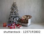 christmas home interior... | Shutterstock . vector #1257192802