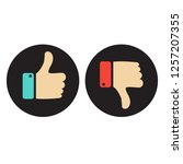 like and dislike icon. thumbs... | Shutterstock .eps vector #1257207355