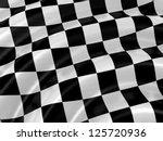 waves on chacker flag | Shutterstock . vector #125720936