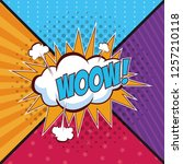 woow pop art concept concept | Shutterstock .eps vector #1257210118
