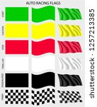 auto racing flags | Shutterstock .eps vector #1257213385