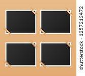 photo frame mockup design.... | Shutterstock .eps vector #1257213472