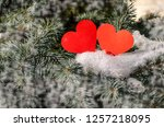 winter i love you  figure new... | Shutterstock . vector #1257218095