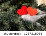 winter i love you  figure new... | Shutterstock . vector #1257218098