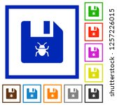 infected file flat color icons... | Shutterstock .eps vector #1257226015