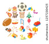 perform icons set. cartoon set... | Shutterstock .eps vector #1257230425