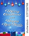 happy new year merry christmas... | Shutterstock .eps vector #1257230788
