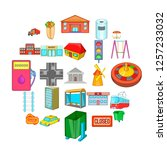 area icons set. cartoon set of... | Shutterstock .eps vector #1257233032