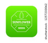 sunflower seed icon green... | Shutterstock .eps vector #1257233062