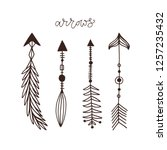 hand drawn arrows collection.... | Shutterstock .eps vector #1257235432