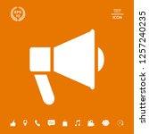 speaker  bullhorn icon. graphic ... | Shutterstock .eps vector #1257240235