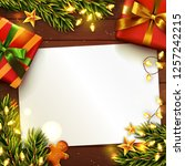 christmas or new year... | Shutterstock .eps vector #1257242215