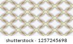 luxury seamless pattern. 3d... | Shutterstock . vector #1257245698