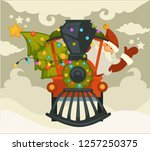 christmas holiday preparation... | Shutterstock .eps vector #1257250375