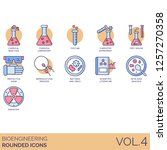 bioengineering icons including... | Shutterstock .eps vector #1257270358