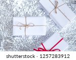 several small boxes with gifts... | Shutterstock . vector #1257283912
