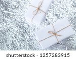 several small boxes with gifts... | Shutterstock . vector #1257283915