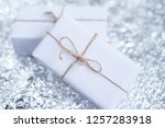 several small boxes with gifts... | Shutterstock . vector #1257283918