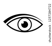 eye icon vector   Shutterstock .eps vector #1257284722