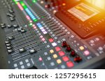 sound and audio mixer control... | Shutterstock . vector #1257295615