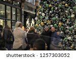 leeds city centre  yorkshire ... | Shutterstock . vector #1257303052