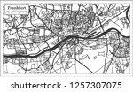 frankfurt germany city map in... | Shutterstock .eps vector #1257307075