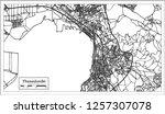 thessaloniki greece city map in ... | Shutterstock .eps vector #1257307078