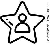 celebrity fame star | Shutterstock .eps vector #1257310138