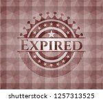 expired red seamless emblem or... | Shutterstock .eps vector #1257313525