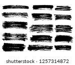vector black paint  ink brush... | Shutterstock .eps vector #1257314872