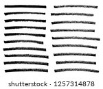 vector black paint  ink brush... | Shutterstock .eps vector #1257314878