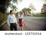 portrait of a young romantic... | Shutterstock . vector #125731916
