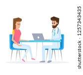 doctor and patient in flat...   Shutterstock .eps vector #1257343435