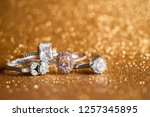 jewelry diamond ring with... | Shutterstock . vector #1257345895