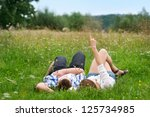 look at the sky  | Shutterstock . vector #125734985
