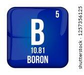 boron symbol.chemical element... | Shutterstock .eps vector #1257356125