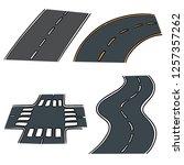 vector set of road | Shutterstock .eps vector #1257357262
