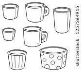 vector set of paper cup | Shutterstock .eps vector #1257364915