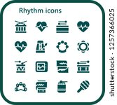 vector icons pack of 16 filled... | Shutterstock .eps vector #1257366025