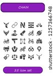vector icons pack of 25 filled... | Shutterstock .eps vector #1257366748