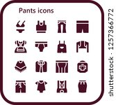 vector icons pack of 16 filled... | Shutterstock .eps vector #1257366772