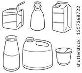 vector set of milk product | Shutterstock .eps vector #1257368722