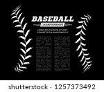 baseball ball text frame on... | Shutterstock .eps vector #1257373492