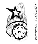 pickleball with star... | Shutterstock . vector #1257373615