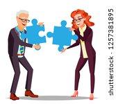 partnership vector. businessman ... | Shutterstock .eps vector #1257381895