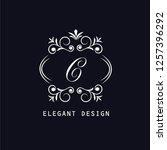 an elegant monogram design for... | Shutterstock .eps vector #1257396292