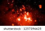 fire particles isolated on... | Shutterstock . vector #1257396625