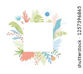 vector illustration of floral... | Shutterstock .eps vector #1257396865