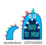 hand drawing monster...   Shutterstock .eps vector #1257410005